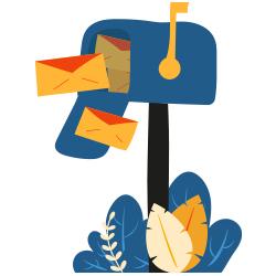 Illustration boîte aux lettres